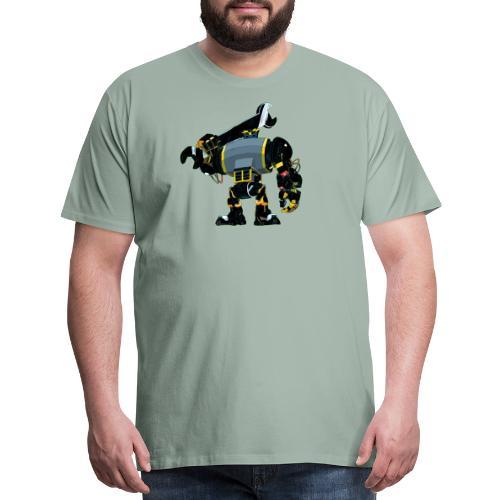Funny Cartoon-Design - Robot Mechanic - Men's Premium T-Shirt