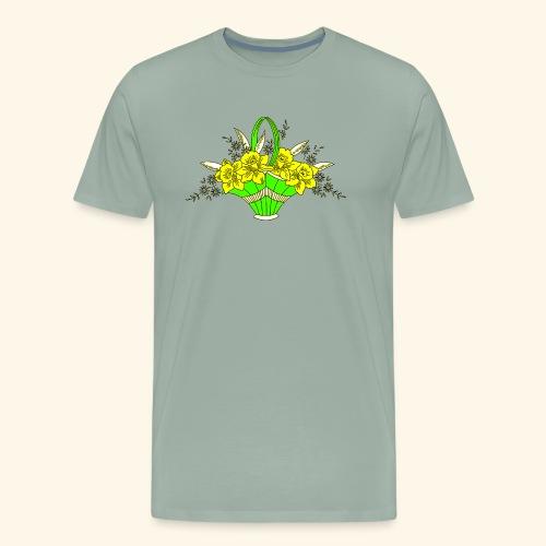 Daffodils Poster - Men's Premium T-Shirt