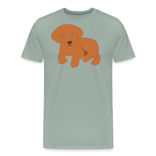 Golden retriever dog - Men's Premium T-Shirt
