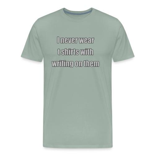 no writing - Men's Premium T-Shirt