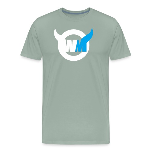 WTFMoses Logo white/blue - Men's Premium T-Shirt