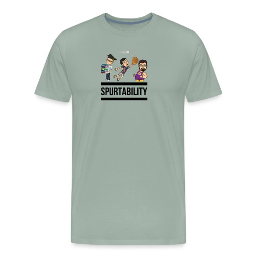 Spurtability Black Text - Men's Premium T-Shirt