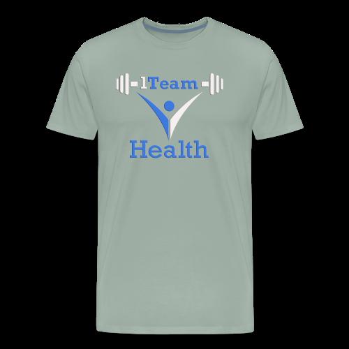1TH - Blue and White - Men's Premium T-Shirt