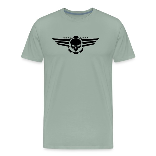 Skull With Wings - Men's Premium T-Shirt