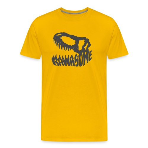 RAWRsome T Rex Skull by Beanie Draws - Men's Premium T-Shirt