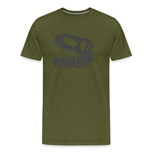 RAWRsome T Rex Skull by Beanie Draws - Men's Premium T-Shirt
