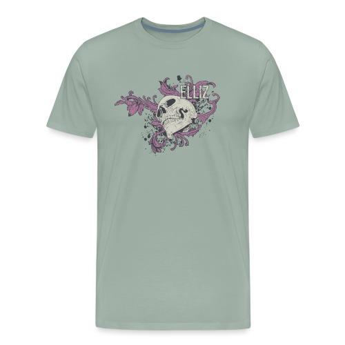 Ornamental Skull Bandana - Men's Premium T-Shirt