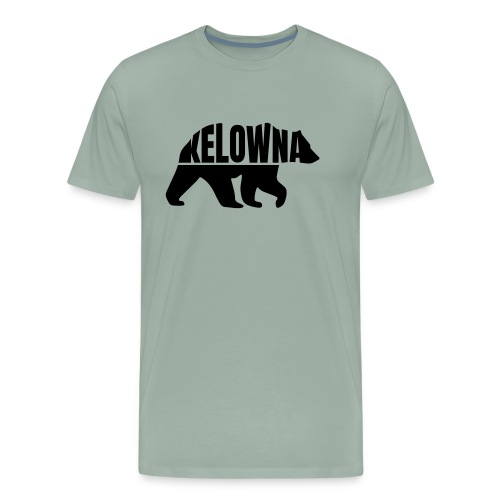 Kelowna Grizzly B&W - Men's Premium T-Shirt