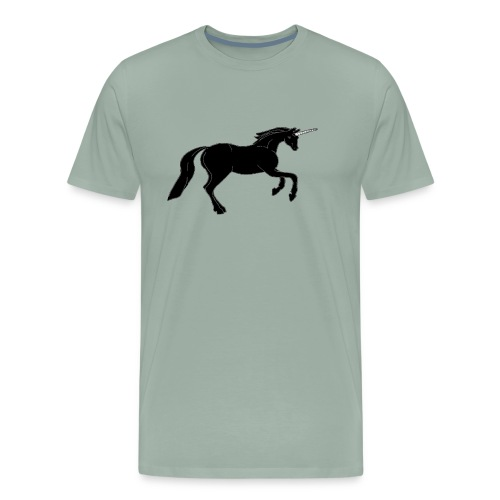 unicorn black - Men's Premium T-Shirt