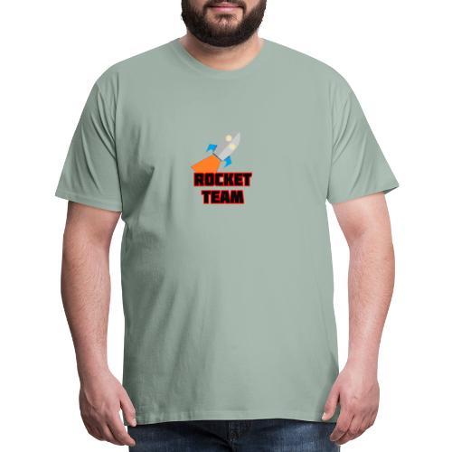 Rocket Team Logo Red Text - Men's Premium T-Shirt