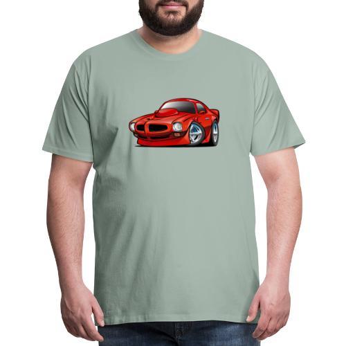 Classic Seventies American Muscle Car Cartoon - Men's Premium T-Shirt