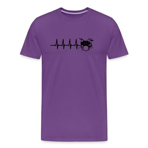 Drums Heartbeat Funny drummer - Men's Premium T-Shirt