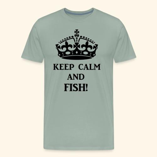 keep calm fish blk - Men's Premium T-Shirt