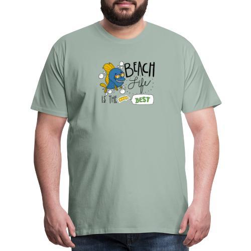 Cute Beach Life Is The Best Motivational Gift - Men's Premium T-Shirt
