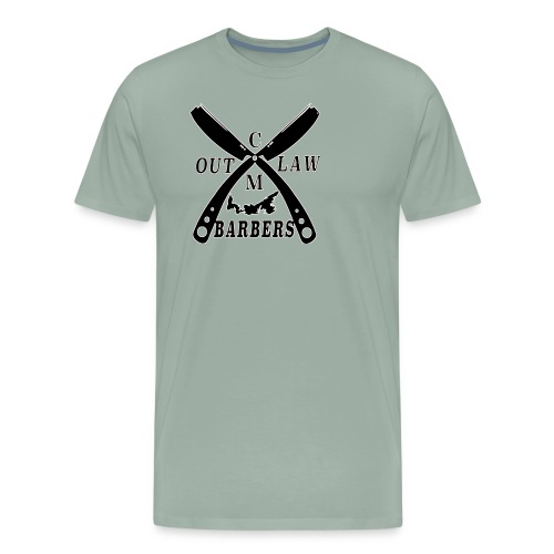 Outlaw Barbers Black Logo - Men's Premium T-Shirt