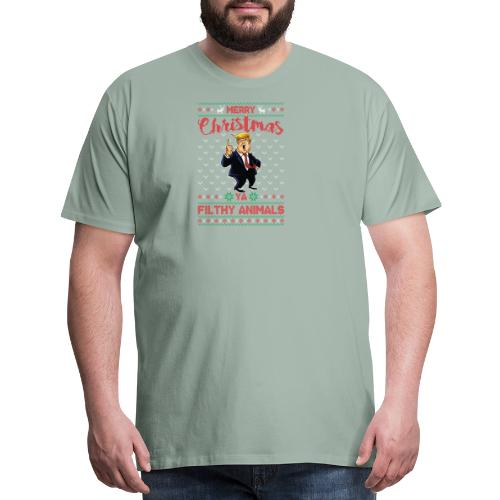 MEERRY CHRISTMAS YA FILTHY ANIMALS - Men's Premium T-Shirt