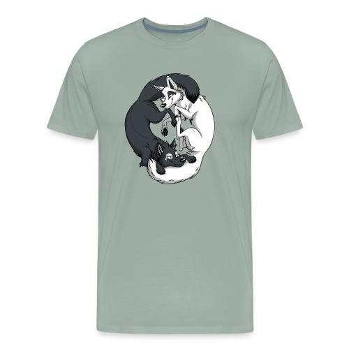 Yin Yang Foxes - Men's Premium T-Shirt