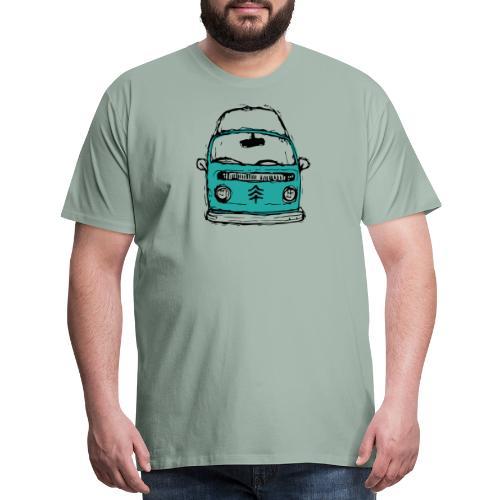 Living The Life In A Hippie Bus - Men's Premium T-Shirt