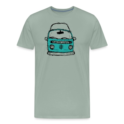 Living The Life In A Hippie Bus - Men's Premium T-Shirt