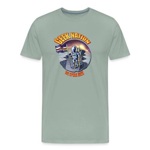 Geek Nation Sun shining - Computer Resolution - Men's Premium T-Shirt