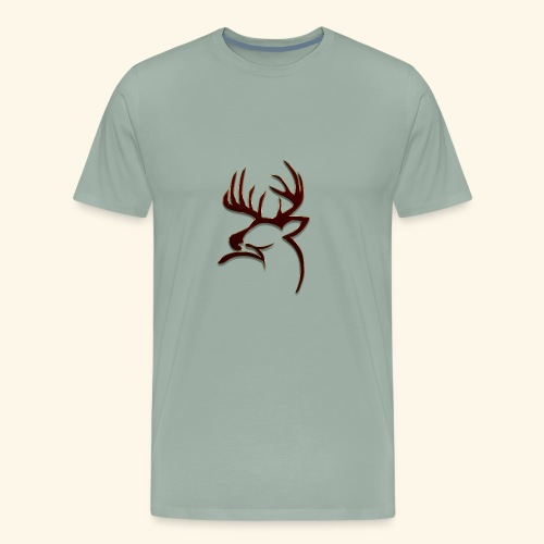 Buck Logo - Men's Premium T-Shirt