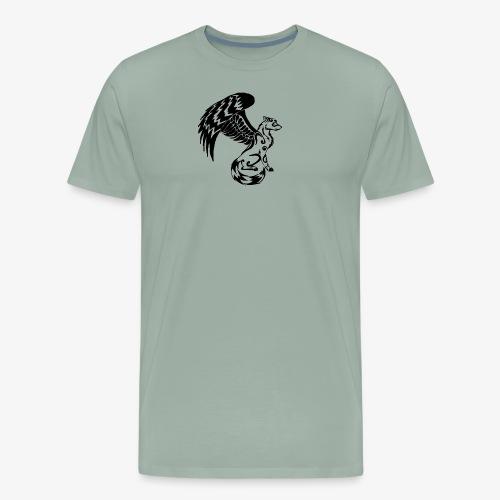 winged wolf - Men's Premium T-Shirt