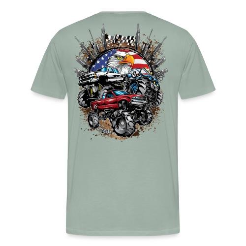 Mega Mud Trucks USA - Men's Premium T-Shirt