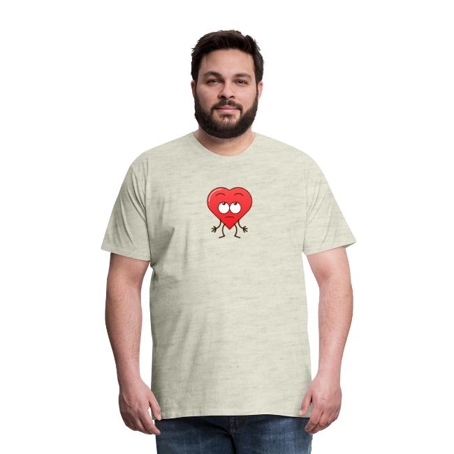 Funny heart showing impatience by rolling eyes
