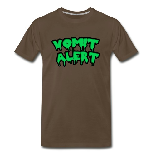 vomit alert design - Men's Premium T-Shirt
