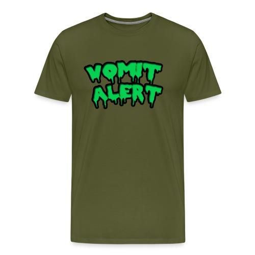 vomit alert design - Men's Premium T-Shirt