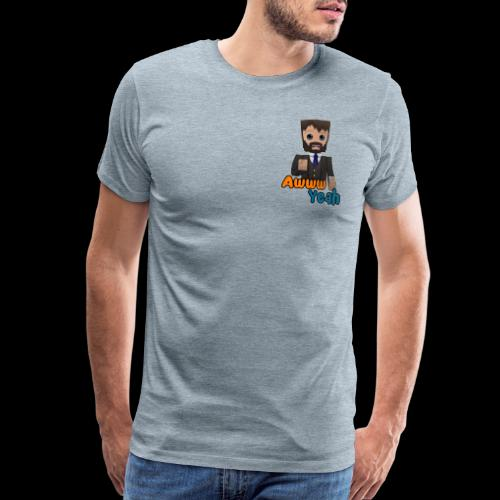 Awww Yeah (xB) No Border - Men's Premium T-Shirt