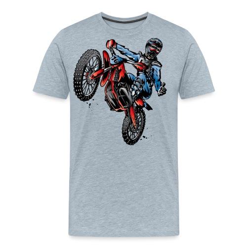 Motocross Dirt Bike Stunt Rider - Men's Premium T-Shirt