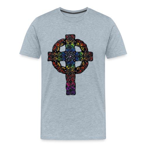Celtic Cross rainbow - Men's Premium T-Shirt