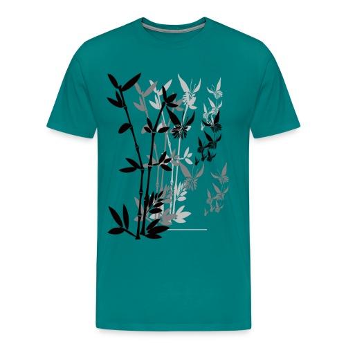 Butterflies n Bamboo-tran - Men's Premium T-Shirt