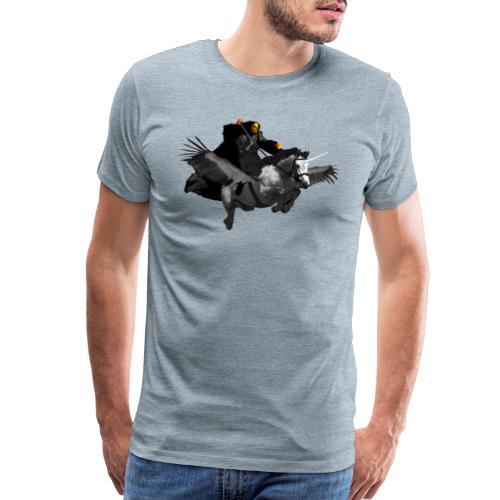 PC39 Ghost and winged unicorn - Men's Premium T-Shirt