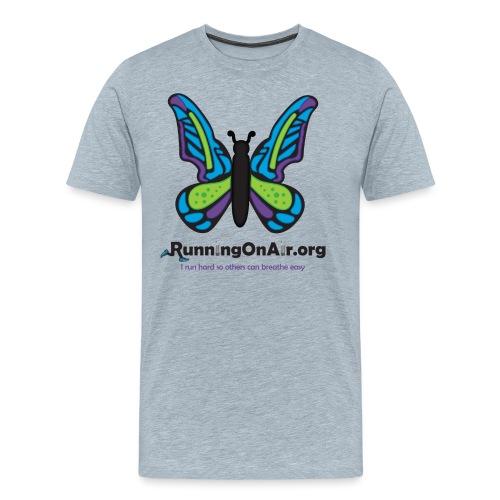 Running On Air logo for light colored shirts - Men's Premium T-Shirt