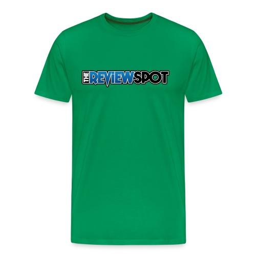 Review Spot Font logo - Men's Premium T-Shirt