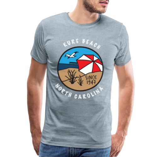 Kure Beach Day-White Lettering-Front Only - Men's Premium T-Shirt
