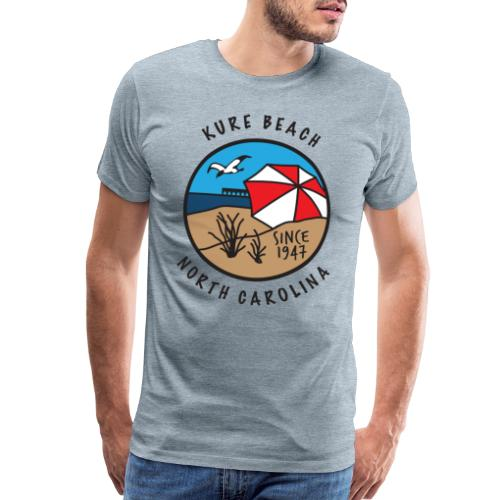 Kure Beach Day-Black Lettering-Front Only - Men's Premium T-Shirt