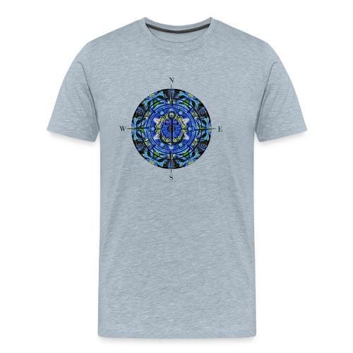 Sailing Freedom Wind Rose - Men's Premium T-Shirt