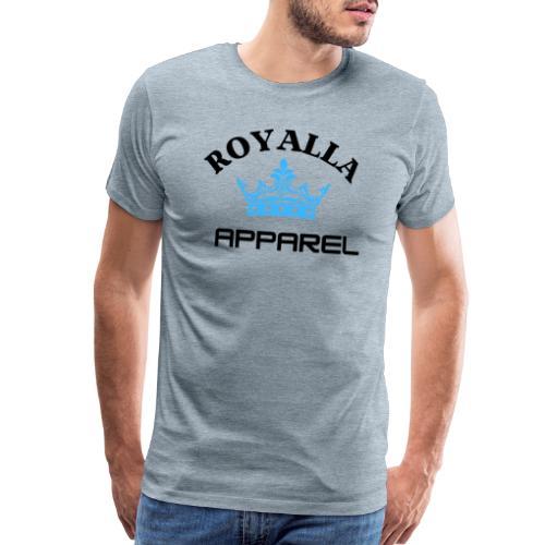 Royalla Apparel LogoBlack with Blue Words - Men's Premium T-Shirt