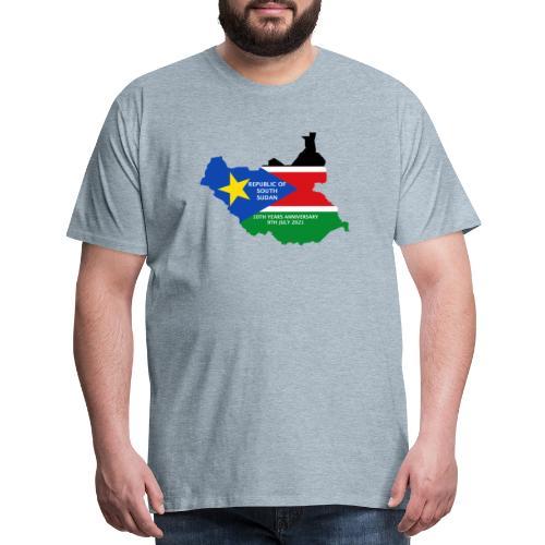 south sudan 10th years anniversary - Men's Premium T-Shirt