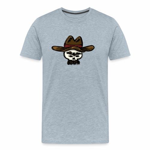 Ranchero Skull (Color) - Men's Premium T-Shirt