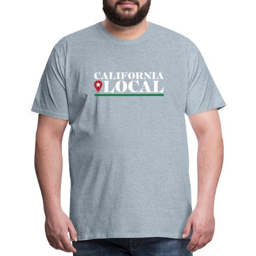 California Local Light on Dark - Men's Premium T-Shirt