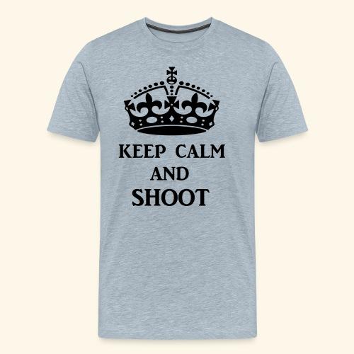 keep calm shoot - Men's Premium T-Shirt