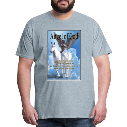 Angel of God, My guardian Dear (version with sky) - Men's Premium T-Shirt