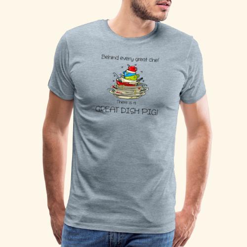 Great dish pig - Men's Premium T-Shirt