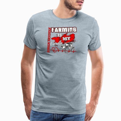 saskhoodz farming - Men's Premium T-Shirt