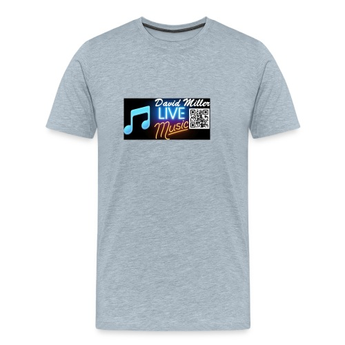 DavidMillerLiveMusicLogo - Men's Premium T-Shirt