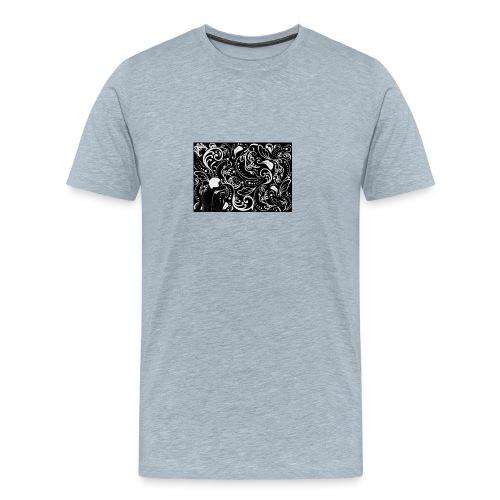 coloring adult illustrati - Men's Premium T-Shirt